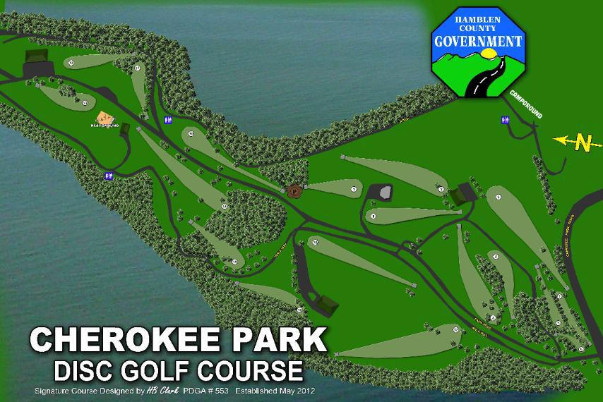 Cherokee-Park-Disc-Golf-Map